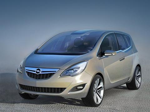 Opel meriva concept,Opel concept. Судя пофото, концептуальная Meriva получила прозрачную крышу. И,скорее всего, серийная модификация унаследует еёвкачестве опции.