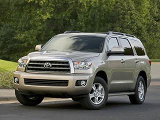 Toyota sequoia,Toyota avalon,Toyota sienna. Toyota Sequoia: 2600кгмассы, бензиновые двигатели V8объёмом 4,7или 5,7л― есть ещё места, где таким монстрам рады.