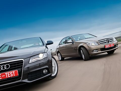 Audi a4,Mercedes c. Дорогой немецкий автомобиль— это непросто набор характеристик иопций, это философия, своя укаждого бренда. Выбор между ними— нетолько вопрос денег.