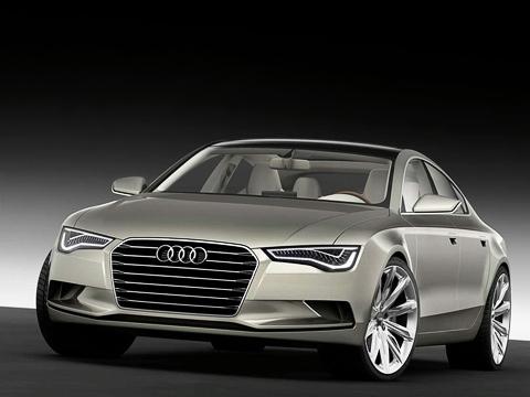 Audi sportback,Audi a7,Audi concept. Внешность автомобиля выдержана включе компактного концепта A1Sportback. Теже злое выражение лица ипредельно лаконичная корма. Кстати, это дебют нового фальшрадиаторного щита Audi.