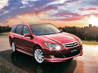 Subaru exiga. Если вЯпонии доступна как Exiga сатмосферным двухлитровым мотором, так имодель снаддувным движком, товАвстралии продаётся только версия со170-сильным «боксером» 2.5.