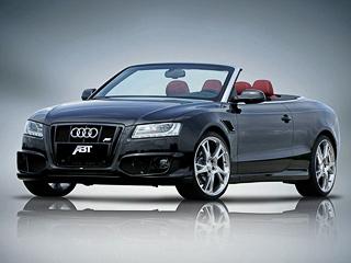 Audi a5. Тюнеры предлагают поставить традиционные колёсные дискиBR диаметром 19или 20дюймов. Заними скрывается оригинальная тормозная система с380-миллиметровыми дисками.