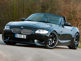 Bmw z4 m. Чёрные колёсные диски BBS обуты вспортивные шины размерностью 235/35R19спереди и285/30R19сзади.