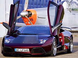 Lamborghini murcielago. В дополнение ктехническим доработкам немецкие тюнеры одели автомобиль ваэродинамический костюм. Они уверяют, что это сделано недля красоты, адля улучшения аэродинамики.