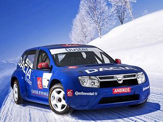 Dacia duster. Разработкой раллийного болида Dacia Duster, снаряжённая масса которого составляет 950кг,занимались специалисты отделения Renault Sport Technologies.