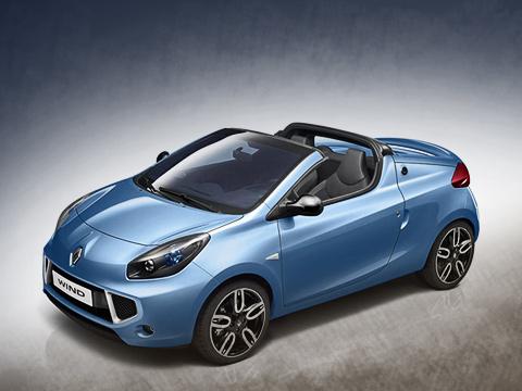 Renault wind. Двухдверка Renault Wind лучше всего выглядит спереди— агрессивно идинамично. Глядя наэтого хищника, склоняешься ктому, чтобы записать родственный ему трёхдверный хэтчбек втравоядные.