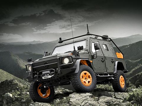 Mercedes lapv. Аббревиатура LAPV вназвании концепта расшифровывается как Light Armoured Patrol Vehicle, тоесть «легкобронированный патрульный автомобиль».