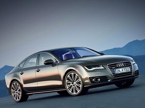 Audi a7. Самая динамичная модификация— стрёхлитровым «компрессорным» мотором V6TFSI. Сним полноприводный хэтчбек разгоняется до100км/ч за5,6с. Такойже показатель у400-сильной ПанамерыS с«механикой».