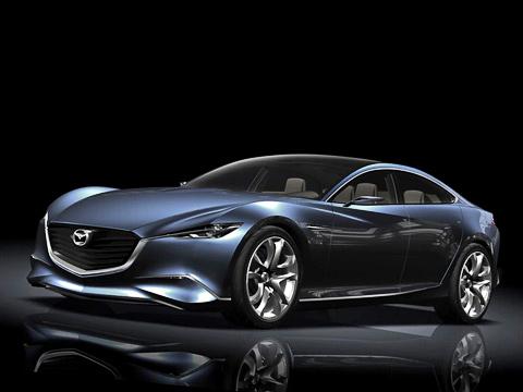 Mazda shinari,Mazda concept. Скоре всего, характерными особенностями автомобилей Mazda вскором времени станут семиугольная фальшрадиаторная решётка ибампер несамой простой формы.