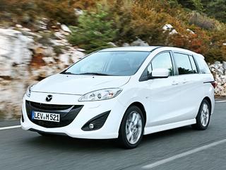 Mazda 5. Пятидверная Mazda5с дизельным мотором снабжается исключительно шестиступенчатой «механикой». Ускорение досотни занимает унеё 13,7с, амаксимальная скорость— 180км/ч.