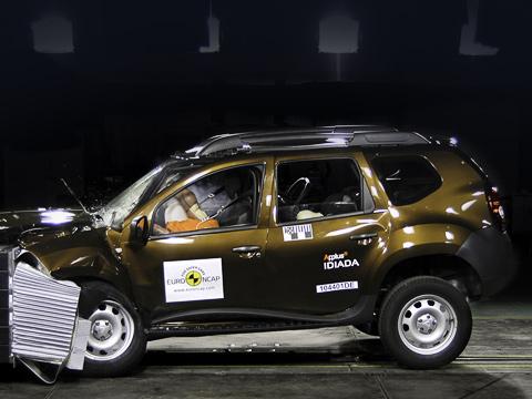 Mitsubishi i miev,Mitsubishi asx,Nissan juke,Bmw x1,Dacia duster,Hyundai ix20. Кроссовер Dacia Duster оказался единственным троечником этой серии испытаний. Даже маленький электромобиль Mitsubishi i-MiEV выступил лучше.