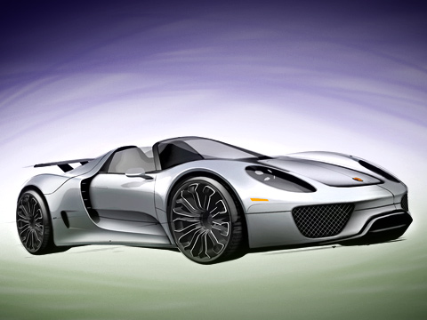 Porsche 911,Porsche 911,Porsche 918. В отличие от концепта серийный Porsche 918 Spyder имеет жёсткий верх. Крыша состоит из двух частей, которые снимаются вручную.