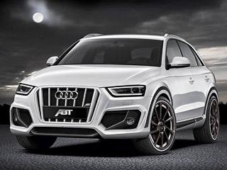 Audi q3. Помимо косметических внешних изменений тюнеры подготовили набор оригинальных колёсных дисков диаметром от18до20дюймов.