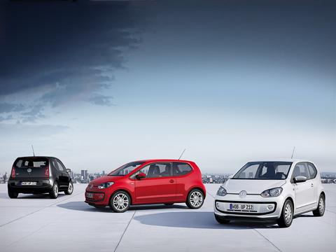 Volkswagen up. Габаритные размеры новинки: 3540мм вдлину, 1640в ширину и1480в высоту. Колёсная база равняется 2420мм.