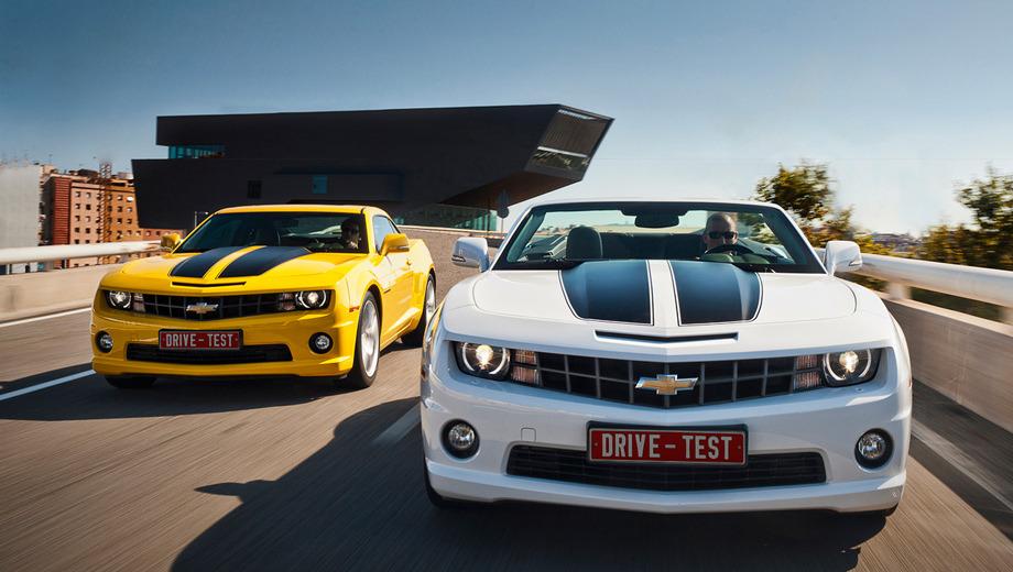 Chevrolet camaro,Chevrolet camaro_dt. Camaro называют самым популярным спорткаром в США: с апреля 2009 по декабрь 2010 года было продано почти 143 тысячи двухдверок. Этой осенью стартуют продажи в Европе, где за купе просят 38 900 евро, а за кабриолет — 43 900.