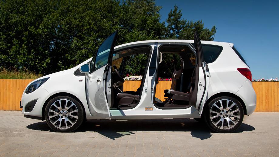 Opel meriva,Opel meriva_dt. Meriva второго поколения продолжает традиции марки. В прошлом веке распашные двери были у многих Опелей, включая первый Kadett, известный в России как «Москвич-401». Всё новое — хорошо забытое старое.