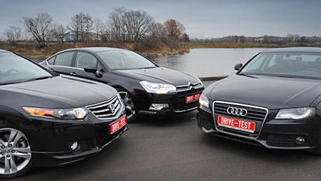 Audi a4,Citroen c5,Honda accord. Всегменте Dвсе стремятся впремиум, нотам— свои игроки. Citroen иHonda пытаются зажать Audi. Выйдет?