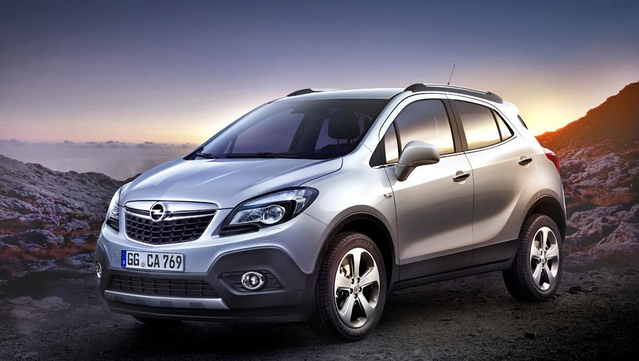 Opel mokka. Габаритные размеры новенького кроссовера Opel Mokka — 4278×1774×1646 мм. Объём багажника при этом вполне внушительный — 533 л, а при сложенных спинках заднего ряда — целых 1372 л.