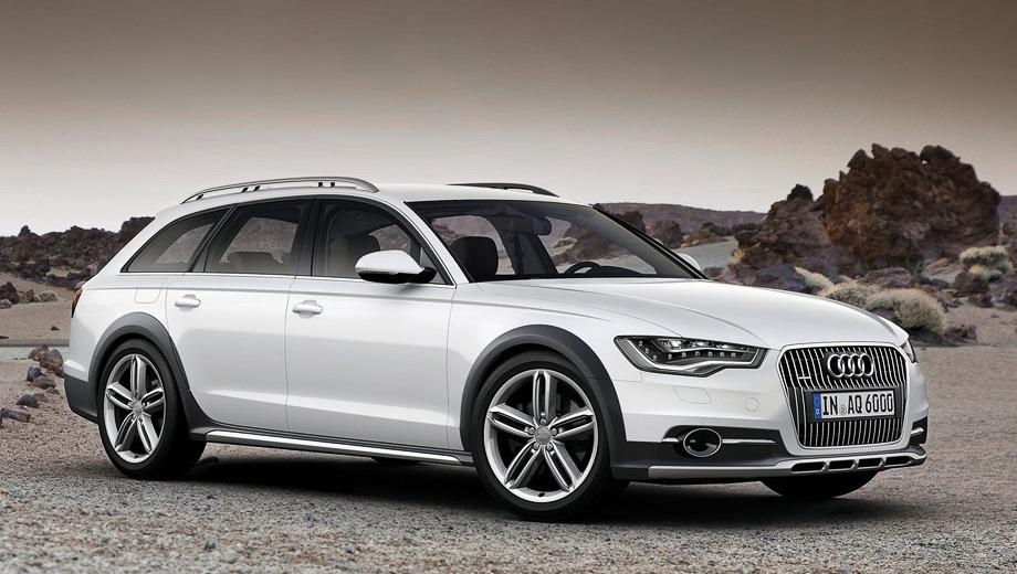 Audi a6,Audi a6 allroad. Автомобили с 310- и 313-сильными наддувными «шестёрками» 3.0 разгоняются до сотни за 5,9 и 5,6 с соответственно. Максимальная скорость у обеих модификаций ограничена электроникой на 250 км/ч.