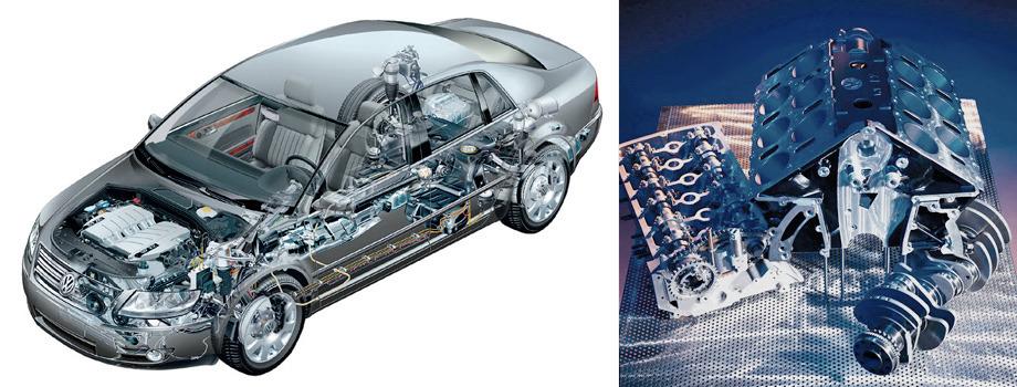 А двигатель W12 — наддувная