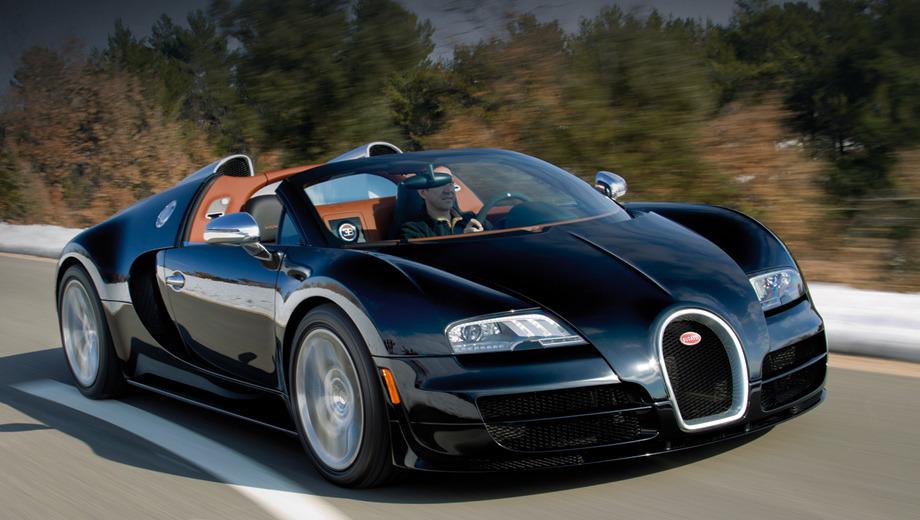 Bugatti veyron. Родстер Bugatti Veyron Grand Sport Vitesse с 1200-сильным двигателем W16 8.0 дебютирует на Женевском автосалоне в марте 2012 года.