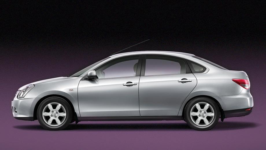 Nissan almera. Пока представительство компании Nissan расщедрилось на одно-единственное изображение новинки. Представить, как автомобиль будет выглядеть с других ракурсов, можно, посмотрев на японский седан Bluebird.