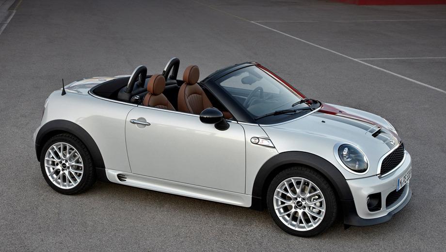Mini roadster. Так же как и хэтчбек, родстер Mini предлагается со 122- и 184-сильным моторами.