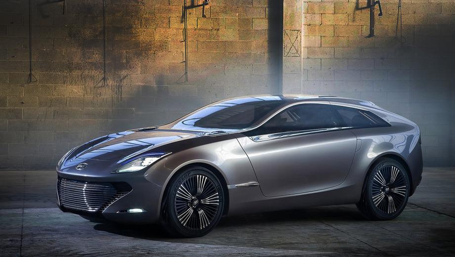 Hyundai i-oniq. В длину шоу-кар Hyundai i-oniq, разработанный в европейской дизайн-студии корейского автопроизводителя, составляет 4,4 м.