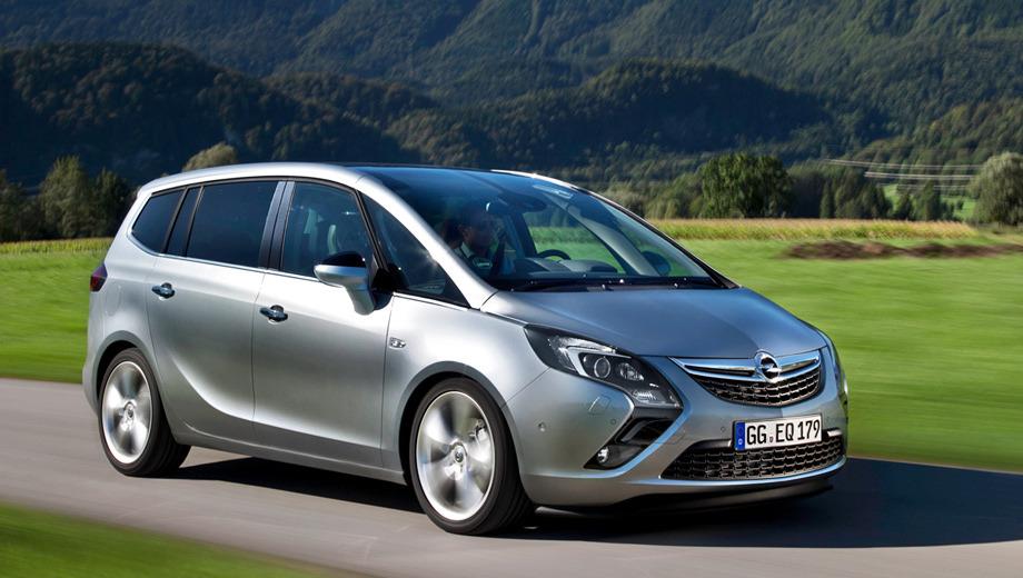 Opel zafira tourer,Opel zafira. Отечественные дилеры начали приём заказов на новинку с 1 марта этого года.