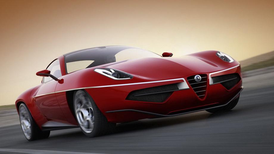 Alfaromeo disco volante. Специалисты кузовного ателье Touring Superleggera всерьёз рассматривают вариант мелкосерийного производства купе Disco Volante (переводится с итальянского как «летающая тарелка»).