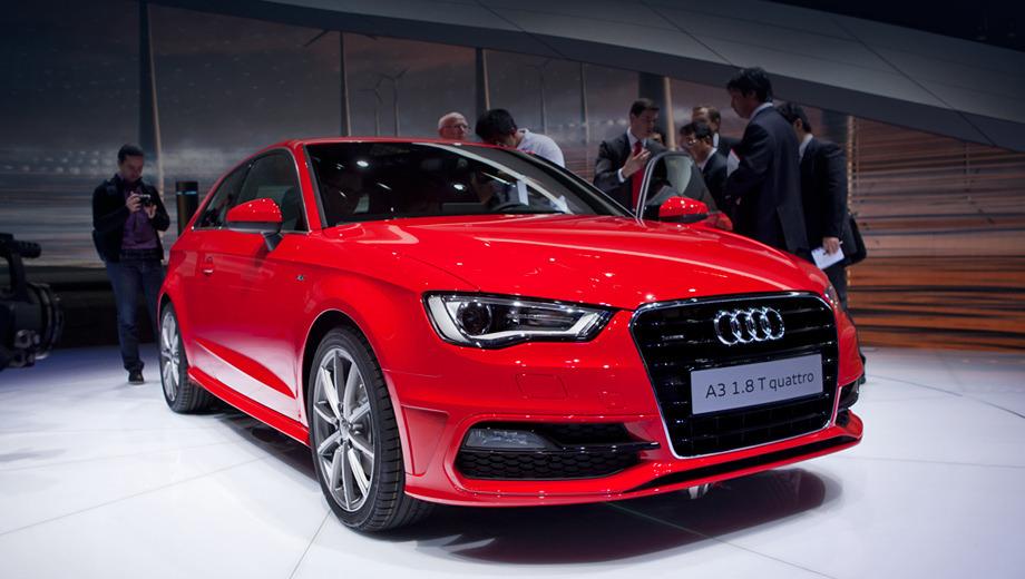 Audi a3. Машина со 122-сильным мотором достигает 100 км/ч спустя 9,3 с после старта (максимальная скорость — 203 км/ч), а 180-сильная версия — за 7,2 с (232 км/ч). Вариант 2.0 TDI разгоняется до сотни за 8,6 с (216 км/ч).