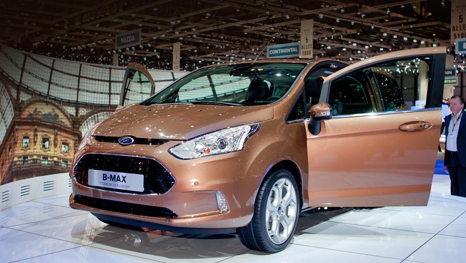 Ford b-max. Пятидверка Ford B-Max выглядит задорно и ехать должна так же. Нам обещают соответствующую настройку шасси и систему стабилизации, умеющую имитировать работу блокировки.