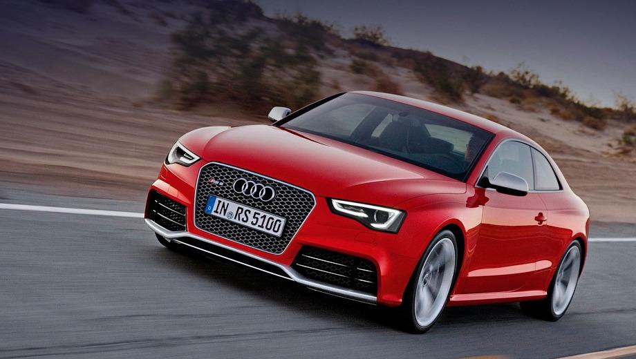 Audi rs5. Спурт до сотни занимает у Audi RS5 4,6 с, а максимальная скорость равняется 250 км/ч (со снятым ограничителем — 280). Расход топлива в смешанном цикле — 10,5 л на 100 км.