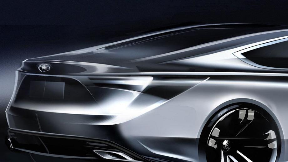 Toyota avalon. Два патрубка выхлопной системы говорят о том, что в арсенале Авалона останутся мощные модификации.