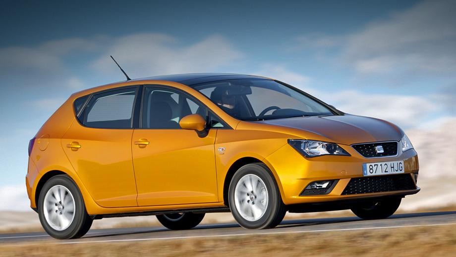 Seat ibiza. В России Ibiza доступна с тремя типами кузова и четырьмя бензиновыми моторами — 1.4 MPI (85 сил), 1.6 MPI (105), 1.2 TSI (105) и 1.4 TSI (150). «Робот» DSG положен только машинам с агрегатами мощностью 105 и 150 сил (базовое оснащение).