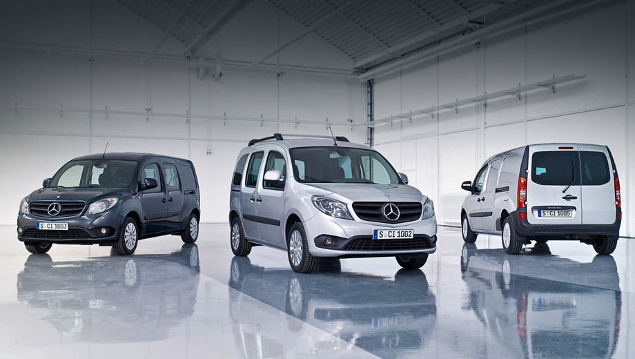 Mercedes citan. Все модификации модели Mercedes Citan будут производиться на том же заводе во Франции, где налажена сборка фургона Renault Kangoo.