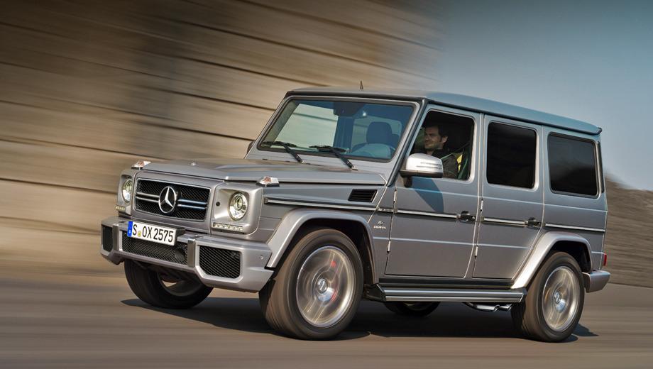 Mercedes g,Mercedes g amg. «Заряженная» версия полноприводника помимо всех тех изменений, которые получили внедорожники G-класса 2012 модельного года, отличается иной решёткой радиатора, модернизированными бамперами и наличием шильдиков AMG.