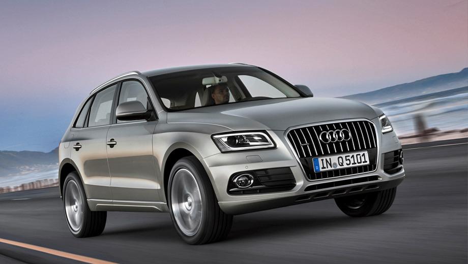 Audi q5. Главное новшество, которое можно заметить невооруженным глазом, — полоски светодиодов в фарах головного света, которые теперь представляют собой трапецию.