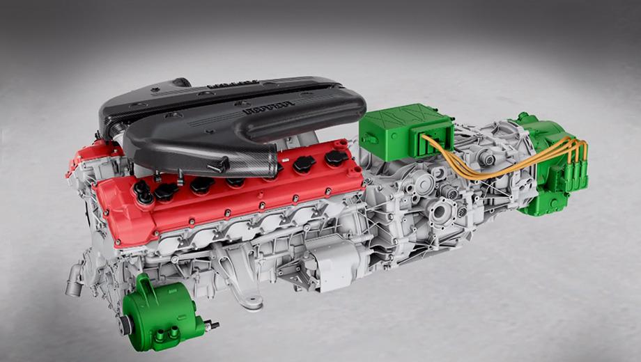 Ferrari f70. Прошлое поколение гибридной системы HY-KERS подразумевало установку в переднемоторные автомобили. Выбросы углекислого газа при её использовании снижались на 30%.