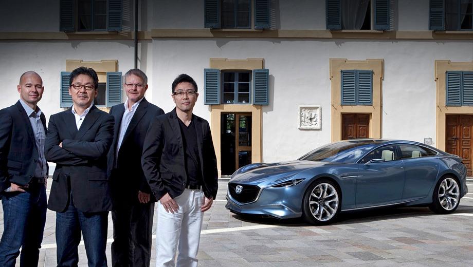 Mazda shinari,Mazda concept. Mazda Shinari — прообраз автомобиля из Хиросимы середины нынешнего десятилетия. Их Fantastic Four: Дженкинс, Маэда, Бёртвисл и Таканата.
