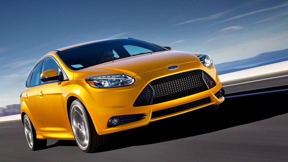 Ford focus st. Клиентам предложено пять цветов кузова, два вида окраса 18-дюймовых дисков и два колера для тормозных суппортов.