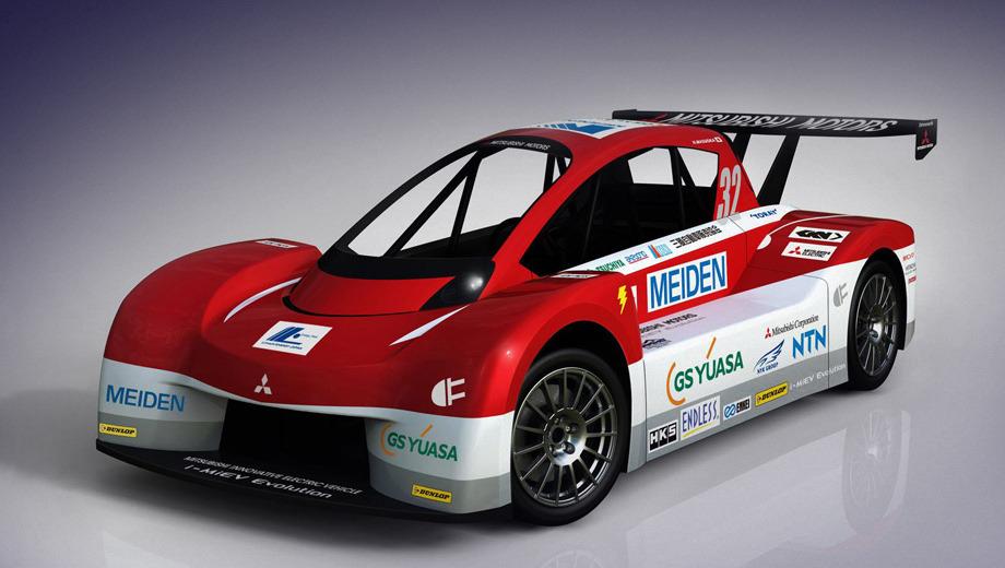 Mitsubishi i miev. Длина и высота у Mitsubishi i-MiEV Evolution равняются 4341 и 1339 мм соответственно. Кованые диски обуты в шины размерностью 245/40 R18.