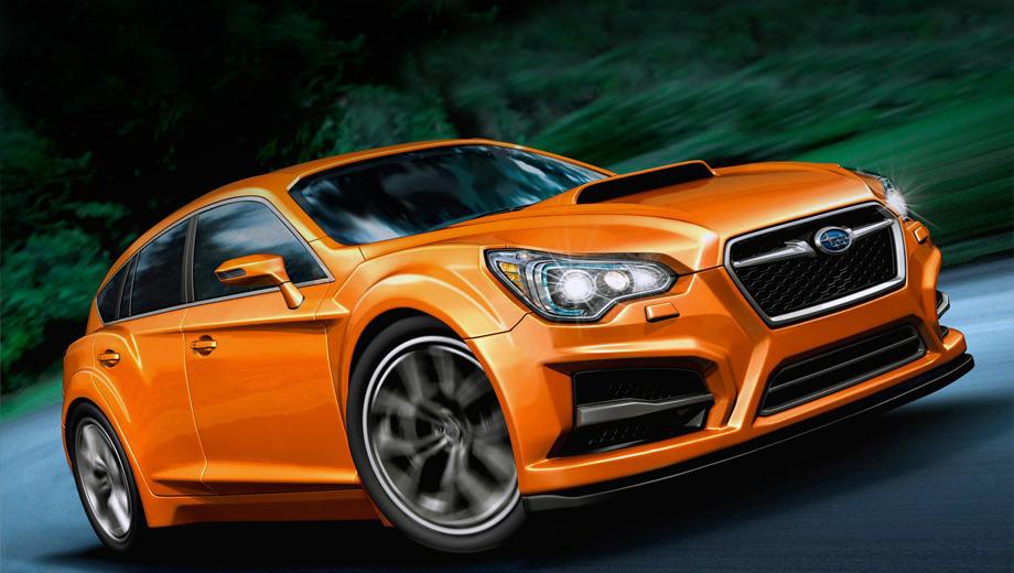 Subaru impreza,Subaru wrx. Японцы намерены серьёзно поработать над облегчением кузова WRX, а ещё — кардинально поднять качество интерьера.
