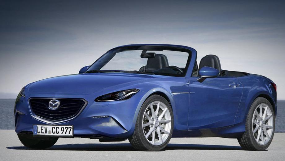 Mazda mx-5,Alfaromeo roadster,Alfaromeo spyder. Официальных изображений нового родстера Mazda MX-5 пока нет. Перед вами рендер, подготовленный коллегами из издания Auto Express.