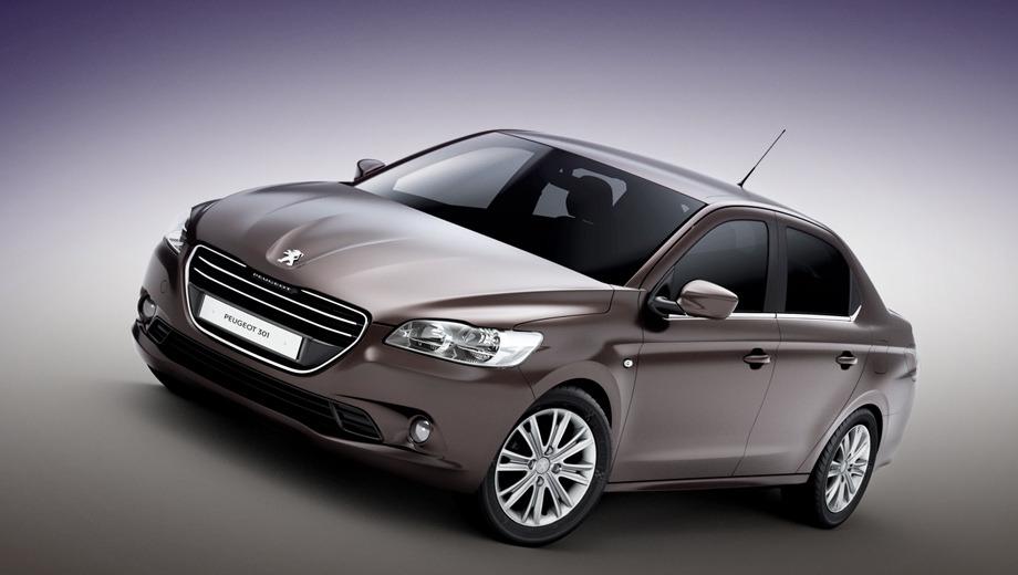 Peugeot 301. Точные габаритные размеры новинки пока неизвестны. Французы раскрыли только две цифры: длина — 4,44 м, колёсная база — 2,65.
