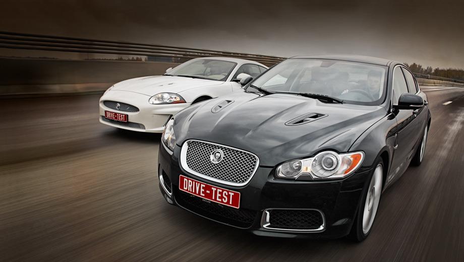Jaguar xfr,Jaguar xkr. Седан XFR и купе XKR — самое мощное оружие из арсенала Ягуара. И самое новое в классе суперседанов и «заряженных» купе E-класса. Впервые букву R англичане использовали для обозначения лемановских прототипов 20 лет назад. Фирма BMW к тому моменту уже вовсю продавала свои «эмки». А дорожным R-машинам и вовсе 11 лет от роду.