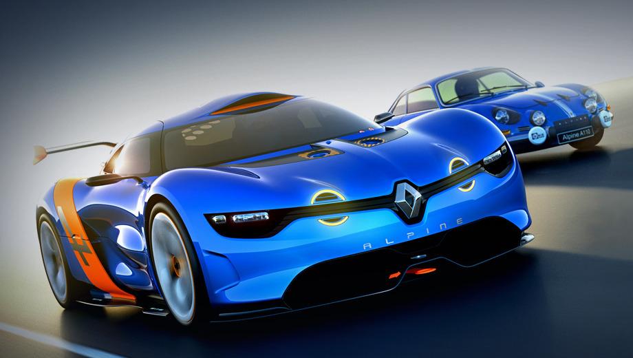Renault alpine. Цель создания этого суперкара — напомнить о былых успехах легендарной модели Alpine A110 Berlinette.