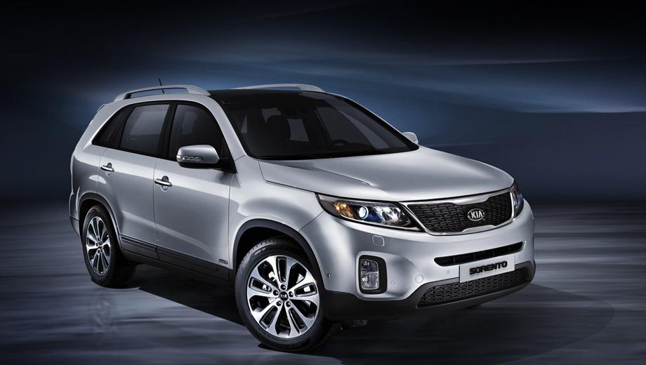 Kia sorento. На большинстве рынков улучшенная модель поступит в продажу в конце нынешнего года.