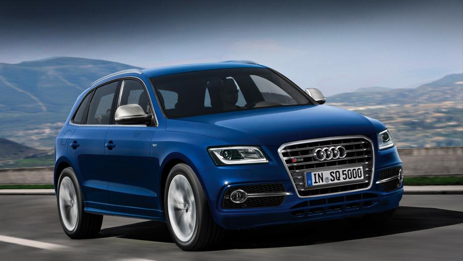 Audi sq5,Audi q5. Горизонтальные планки на решётке радиатора — одна из главных отличительных черт «заряженной» версии.