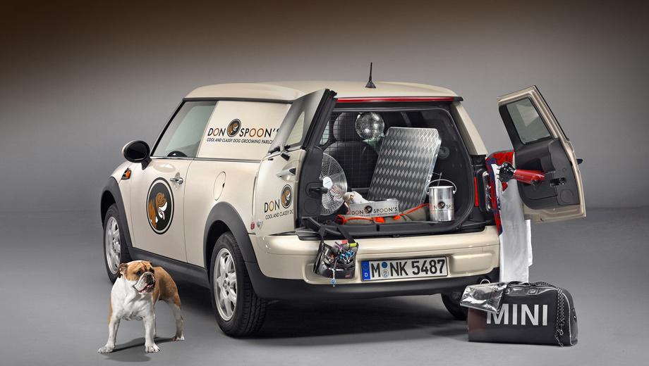 Mini clubvan. Объём грузового отсека новичка составляет 860 литров, его длина равна 115 см, а ширина в самом узком месте — 102 см. Грузоподъёмность фургона — 500 килограммов.
